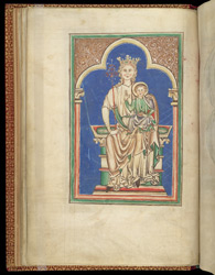 Full-Page Miniature Of The Virgin And Child, In A Psalter